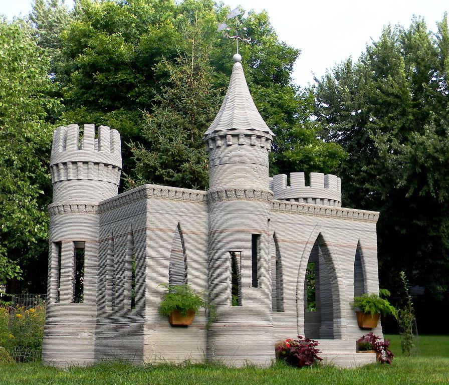 Kasteel gebouwd door middel van 3D-printen